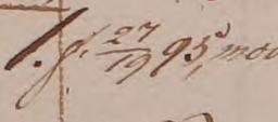 Född den 27/19 1795